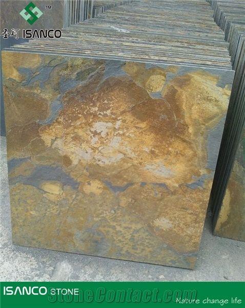 Slate Slab Rusty Slate Stone Flooring Tiles Rustic Slate