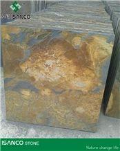 Slate Slab Rusty Slate Stone Flooring Tiles Rustic Slate Floor Covering Slabs Cheapest Slate from Own Quarry Multicolor Slates Floor&Wall Tiles