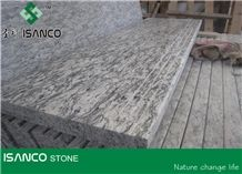 White Granite Deck Stair Sea Wave Flower Of Mengyin Granite Stair Riser Mengyin Hailang Hua Granite Stair Treads Spindrift White Granite Staircase Mengyin White Wave Granite Stair Threshold from China