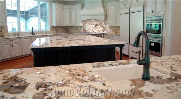 Delicatus Cream Granite Kitchen Countertop From United States 472681 Stonecontact Com