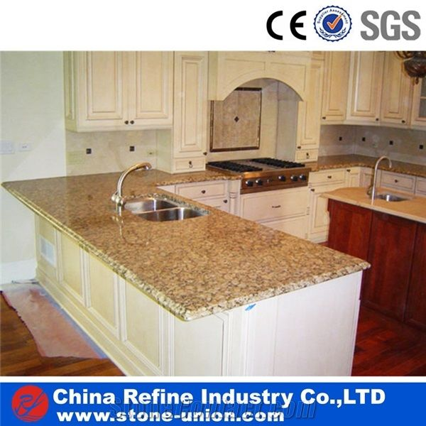 Butterfly Yellow Granite Countertops,Kitchen Counter