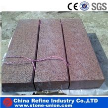 Natural Best Price G386 Granite Kerbstone, Shidao Red Granite Cube Stone, G386 Landscape Paver Stone