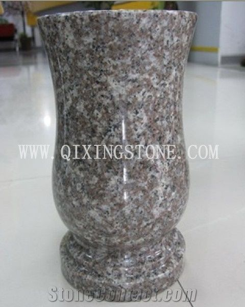 Hot Sale G664 Granite Flower Vases For Graves From China