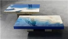 Stone Multicolor Table / Marble Table Top
