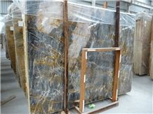 Fantasy Red Dragon Blue Marble Xingeli Slabs High Polished Marble Tiles / Marble Slabs for Interior Stone Flooring Covering