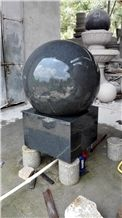 G654 China Impala Black Dark Sesame Grey Granite Garden Fountain Bsll for Rolling Sphere Fountain