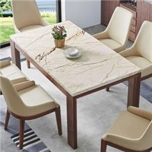 Gold Dragon Marble Interior Table Top /Rich Gold Marble Slabs Cut to Size Sofitel Gold Marble, Sofita Gold Work Top, Crema Eva,Crema Evita Coffee Desk Top
