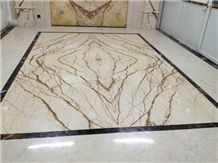 Gold Dragon Marble Tiles for Floor Covering /Rich Gold Marble Slabs Cut to Size Sofitel Gold Marble, Sofita Gold, Crema Eva,Crema Evita Cut to Size