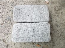 China Silver Grey Granite G601 Split Tumbled Cobbles, Fujian Grey Granite Cube Stone Pavement, Fine White Flower Granite Pavings, Pretty Gray Granite Paver, Chinese Gold Star Granite