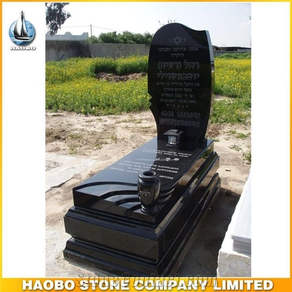 Cheap Shanxi Black Granite Tombstone Unveiling Invitation