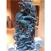 Natural Stone Granite Phoenix Sculpture