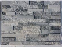Cloudy Grey Quartzite Cultured Stone