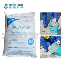 Bestlink Splitstar Non-Explosive Expansive Mortar, Rock Cracking Powder, Rock Demolition Agent, Rock Splitting Agent, Expansive Cement, Chemical Demolition Powder