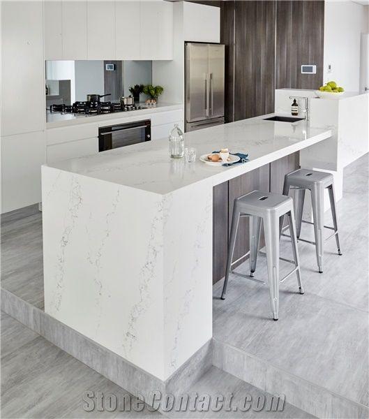 Stunning Statuario Quartz Stone Bench Kitchen Top /Solid