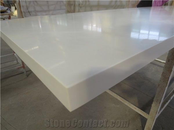White Artificial Quartz Stone Beveled Edge Kitchen Countertops, Custom  Countertops, China Cheap White Artificial Stone Countertop