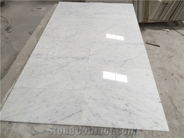 Unique Bianco Carrara Venato Marble Tile Slab/ Middle White/Venato  LT38