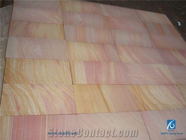 Rainbow Sandstone Tiles Slabs Multicolor Polished Floor Flooring Wall Covering