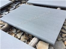 Hainan Grey Basalt Rebated Bullnose Pool Coping,China Grey Basalt Honed Pool Coping, Grey Basalt,Basaltina,Basalto,Inca Grey Rebated Bullnose Pool Coping