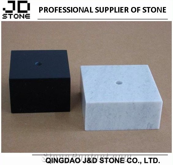 Black And White Marble Pedestals For Trophy From China