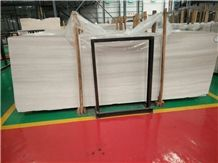 China White Wood Vein Marble, Ready Slabs in Thickness 1.5cm