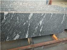 Snow Grey Granite Slab ,China Black Granite with White Flower