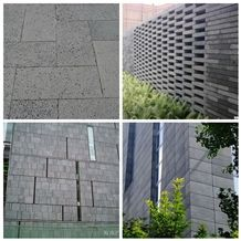 Grey Sawn Lava Stone Rock Tiles & Slabs, Moon Surface Grey Basalt