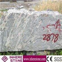 Cheap Price China Juparana Pink Granite Block, Desert Gold Granite Own Quarry, Hebei Desert Flower Gold Granite