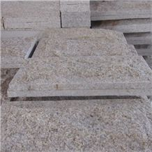 G682 Granite Mushroom Stone, Yellow Granite Mushroomed Cladding