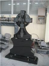 Mongolia Black Granite Monument & Tombstone