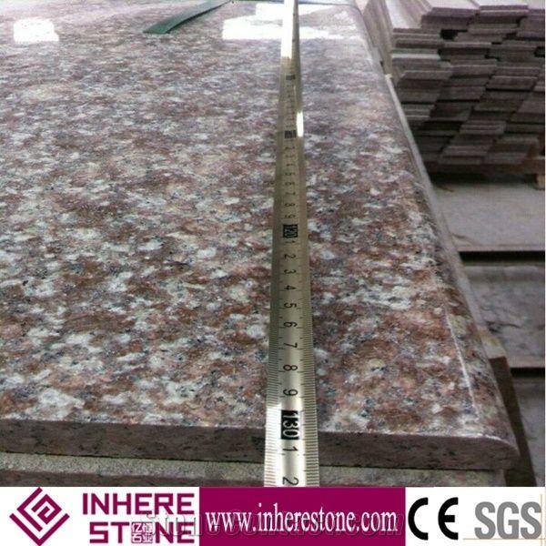 Peach Blossom Red Granite Slabs Polished, G687 Granite Wall