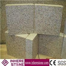 Shandong Yellow Rust Granite G682 Pavers, Golden Sunset Granite Cube Stone