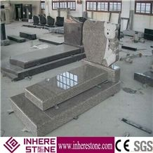 Wholesale Polished G664 Granite Tombstone & Monument, Pink Color Tombstone Design