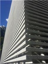 Serizzo Dubino Solar Shading, Stone Solar Shading, Granite Solar Shading, Serizzo Dubino Solar Shading System, Serizzo Dubino Sunscreening System for Facade