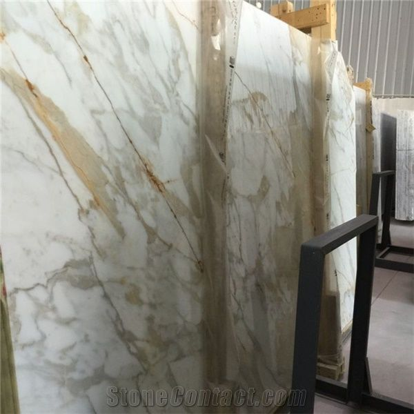 Calacatta Gold Marble Slab Price Italy White