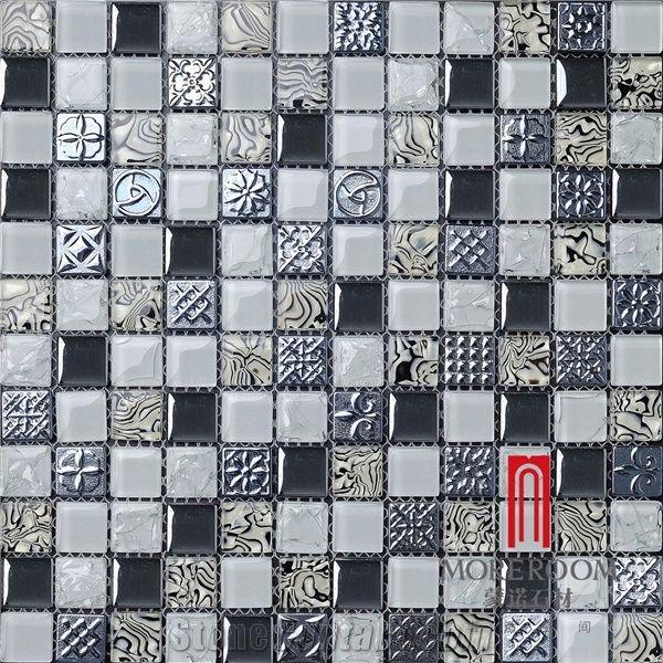 Marble Mosaic Special Design Gl Tiles Bathroom Floor