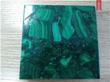 Royal High Polished Green Malachite Mosaic Marble Tile Laminated Granite