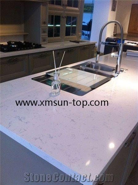 Carrara Quartz Countertop Artificial