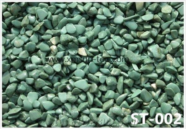 China Green Pebble Stone Green Gravel Polished Pebbles