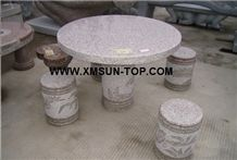 G603 Granite Bench/Mountain Grey Granite Table/Stone Table/Stone Bench/ Exterior Furniture/Stone Garden Tables/Outdoor Chairs/Street Furniture/Landscaping Stone