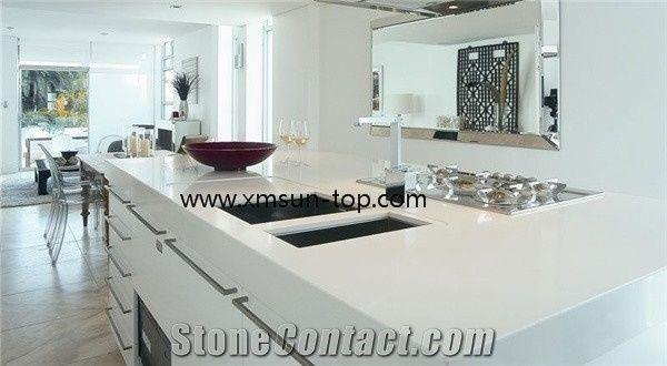 Pure White Quartz Kitchen worktop