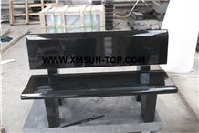 Shanxi Black Granite Garden Bench/Absolute Black Granite Exterior Furniture /China Supreme Black Granite Outdoor Chairs/Nero Assoluto China Granite Street Furniture/Landscaping Stone