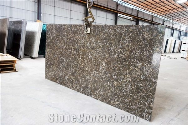 Brown Quartz Tile Quartz Slab Quartz Floor Tile Artificial