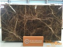 Beautiful Brown Onyx Slab in Bookmatch Stone Tiles for Interior Decoration,Onyx Stone for Project