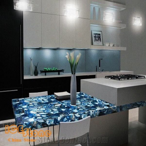 Blue Agate Countertop Blue Agate Gemstone Table Blue