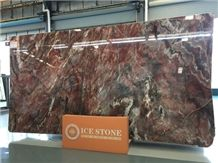 Chinese Factory Quarry Polished Louis Red Marble Slabs Tiles China Venice Red Stone for Wall Floor Covering Project Changable Pattern