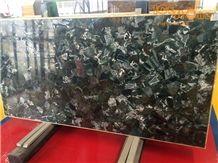 Fluorite Backlit Precious Stone Slabs Tiles/Semiprecious Stone Tiles/Building Stone/Black Gemstone Tiles/Luxury Decoration Stone