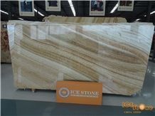 Golden Dragon Onyx Yellow Brown Jade Slabs Tiles China Natural Stone Products Transparency