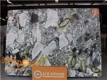 Ice Green Marble Slabs Tiles/Wall Covering Tiles/Ice Connect Marble Floor Covering Tiles/Tv Background Stone/Chair Decoration Stone/Cold Jade/Primavera Marble
