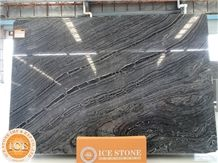 Polished Silver Wave Black Marble Slab&Tiles,Chinese Grey Veins Natural Stone,Blocks,Bookmatch Slabs for Hotel Project Decor,Floor Covering,Table Tops