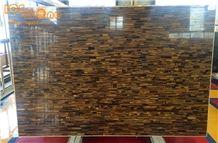 Tiger Eye Semi Precious Stone/Brown Gemstone/Chinese Natural Stone/Interior Decoration Building Materials